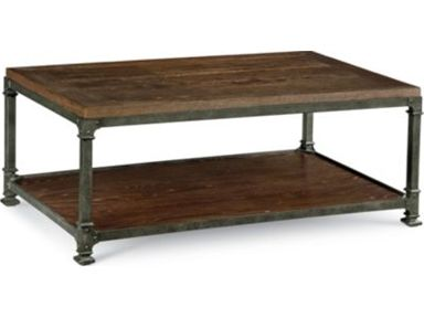 Shop for Thomasville Litho Cocktail Table, 46432-120, and other Living Room Tables at McCreerys Home Furnishings in Sacramento, CA 95821. Finish: Loft Cast iron base Wood top and shelf.