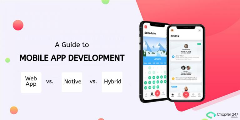 Your Guide To Mobile App Development Web Vs Native Vs Hybrid In 2020 Mobile App Development App Development Course Mobile App