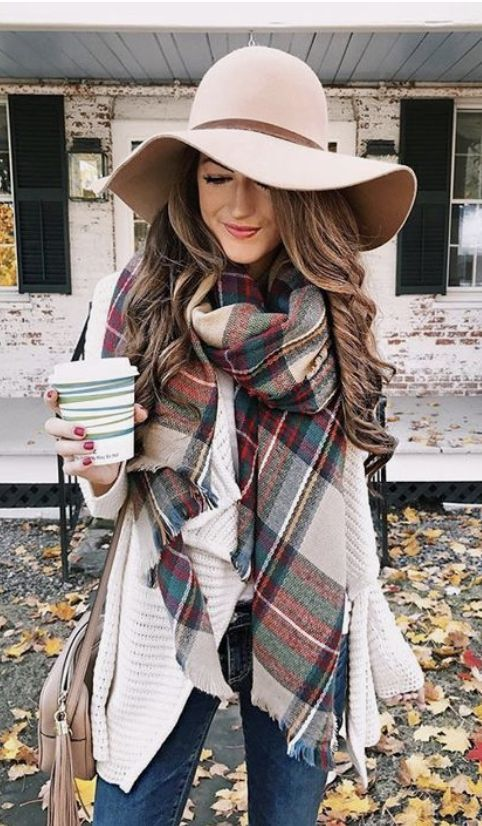NYC Blanket Scarf #outfitswithhats
