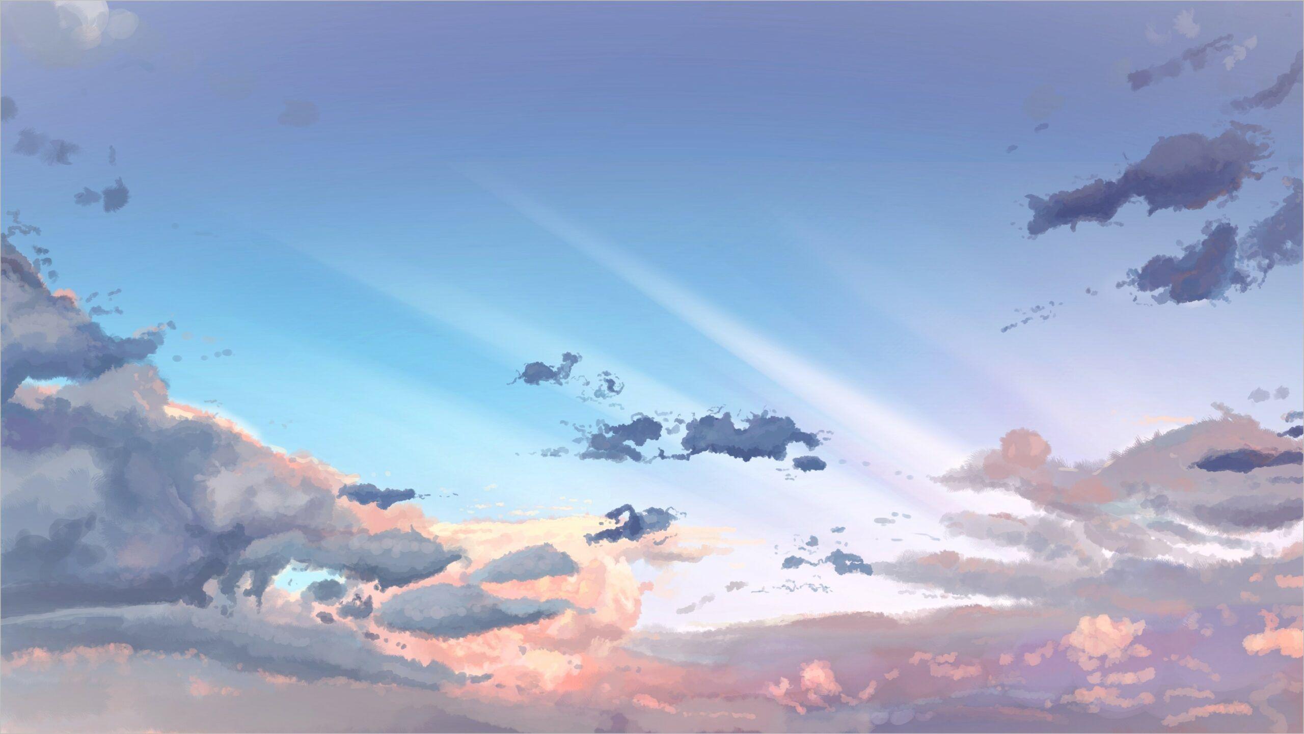 Anime Wallpaper 4k Sky In 2020 Sky Anime Night Sky Wallpaper Anime Wallpaper Download