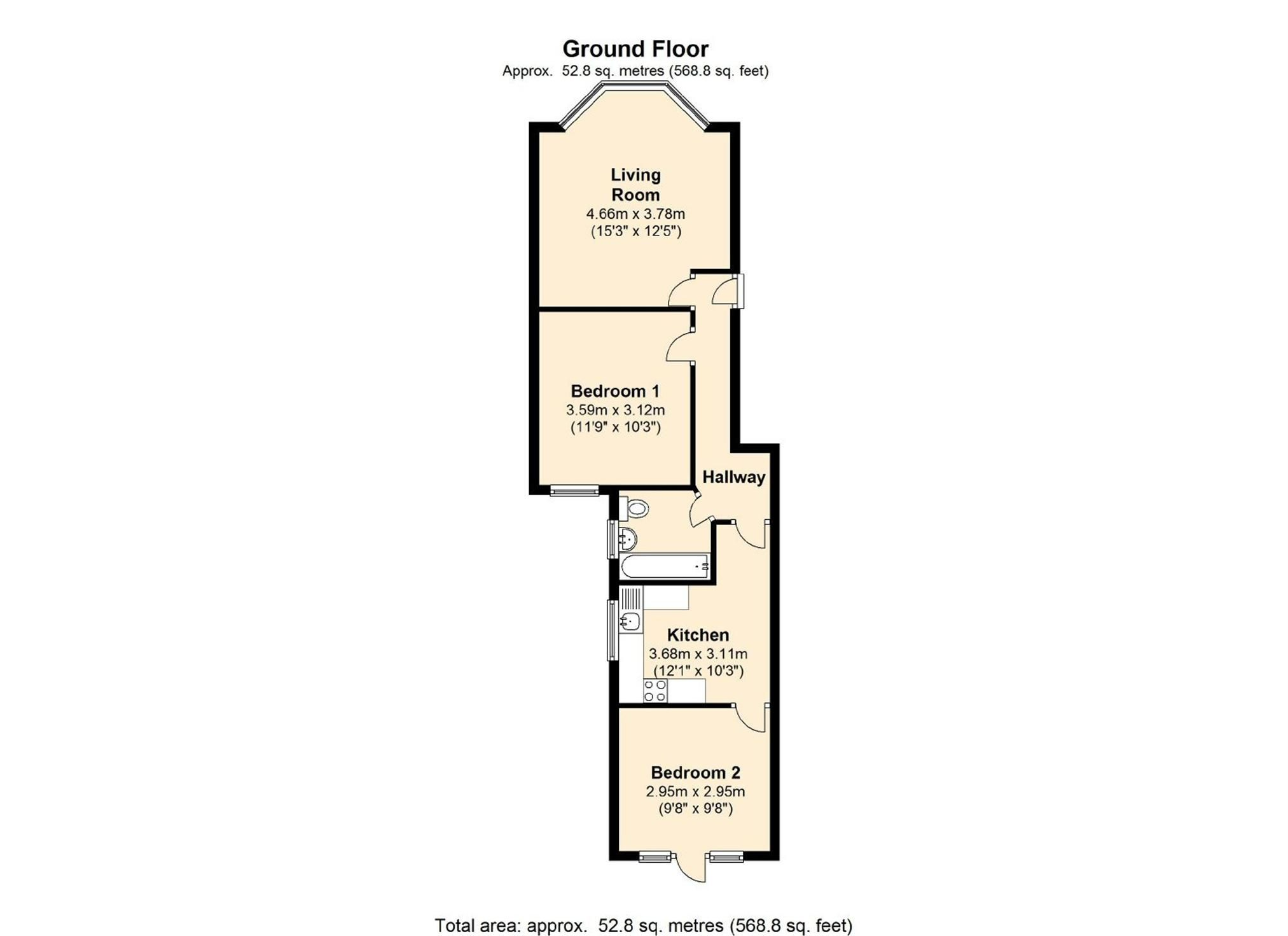 best floorplan 2 bed flat conversion victorian bay window top