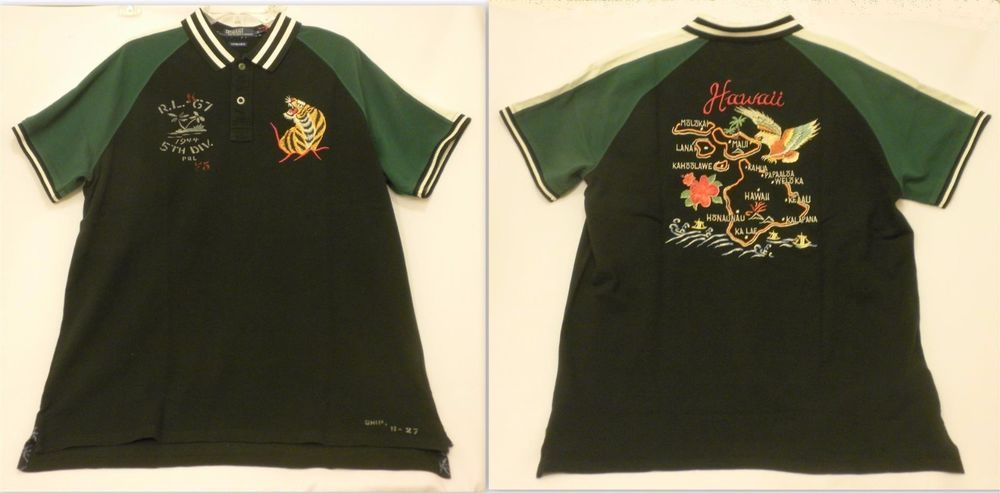 8cf871422 XL Polo Ralph Lauren Limited Edition Tour Jacket Shirt Hawaii Green Black  NEW  PoloRalphLauren  PoloRugby