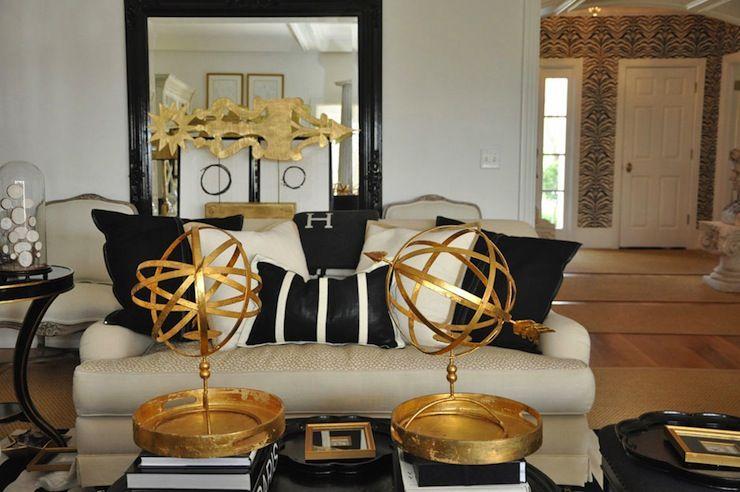 Suzie Megan Winters Fantastic Gold Black Living Room With