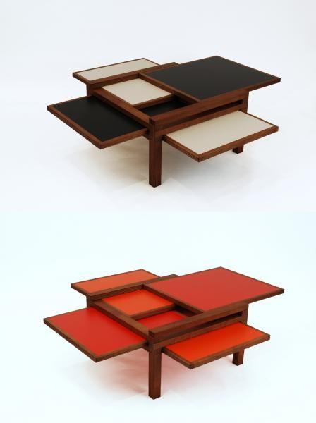mobilier tables modulables sculptures jeux table basse par 4 iroko sculptures jeux. Black Bedroom Furniture Sets. Home Design Ideas