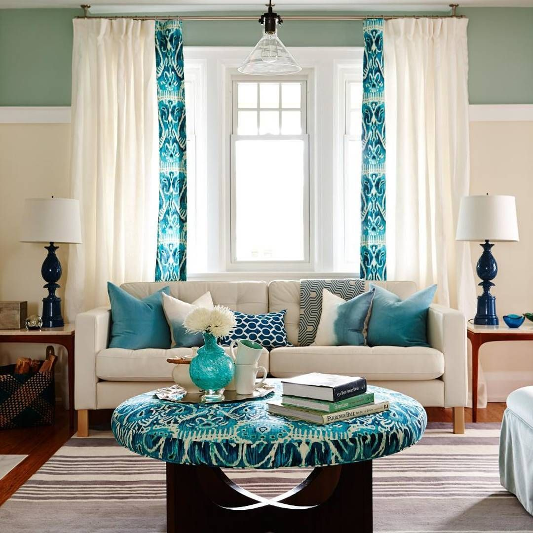 This ocean inspired living room makes us want to book a mini vacay ...