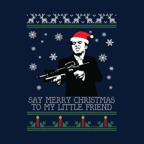 Merry Christmas Little Friend Scarface Christmas Knit Hump Day