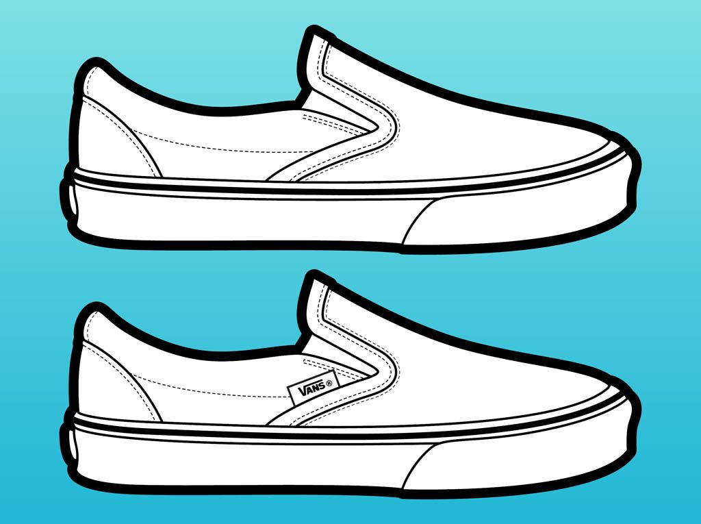 how to draw flats shoes