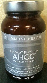 Quality of Life Kinoko Platinum AHCC 750 Mg 60 Ct by Quality of Life