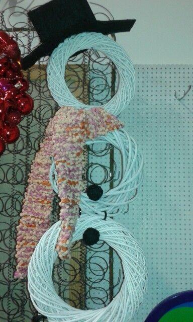 Lumiukko kranssipohjista