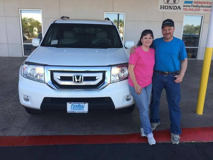 Findlay Honda Henderson and Oscar would like to Thank and Congratulate Susan and Shane for coming all the way down from Utah to buy their 2009 Honda Pilot! We appreciate you both and your business! Welcome to the family and drive home safe!