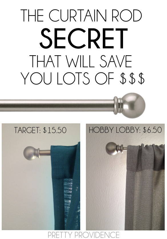 The Secret To Saving On Curtain Rods Curtain Rods Home Diy