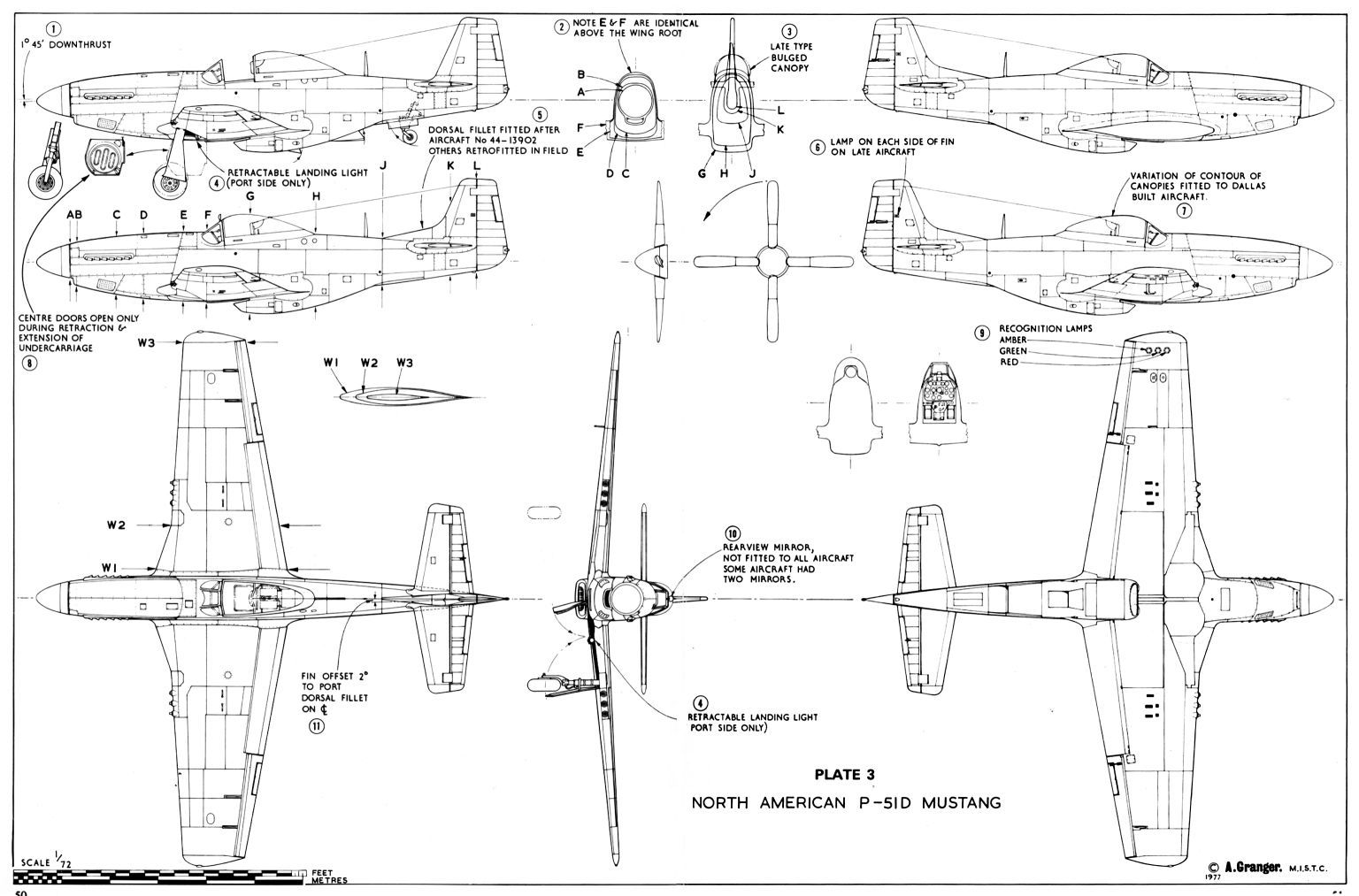 Schematic For P 51 D Mustang Wwii Airplane Aviation