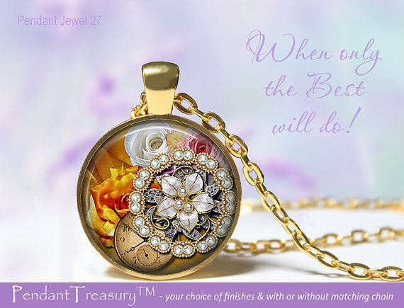 Pendant Jewel Photo Artwork 27  Glass Dome by PendantTreasury, $11.95