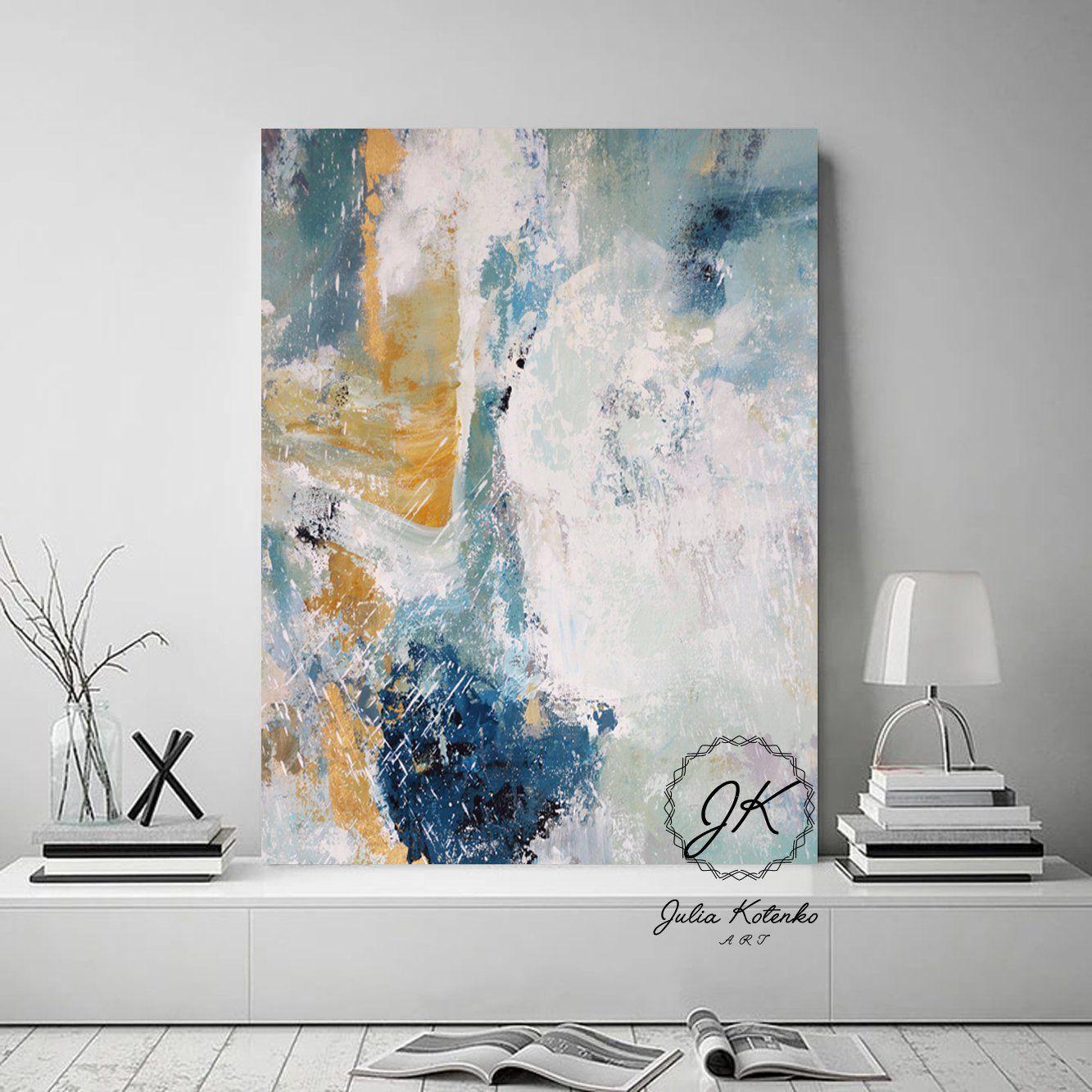 Large Blue Abstract Art Prints On Canvas Blue Print Artlarge Etsy Abstract Art Prints Blue Abstract Art Blue Printable Art
