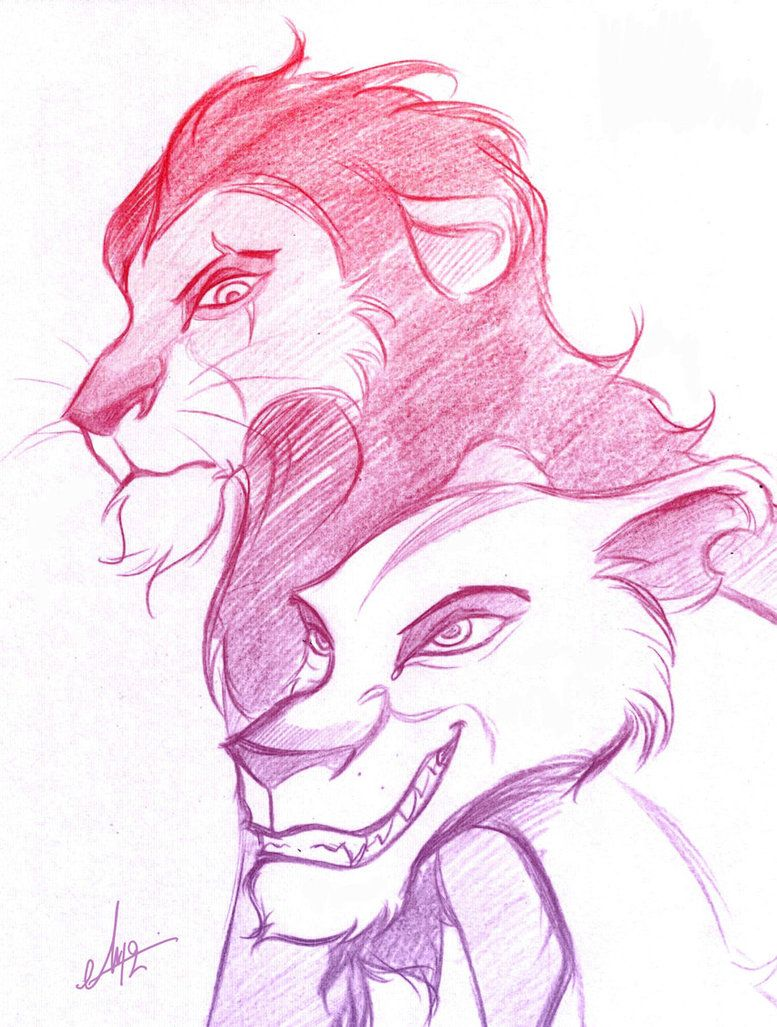 43142a7ea Scar and Zira - Sketch | Disney - Inspiration, Images and Quotes ...