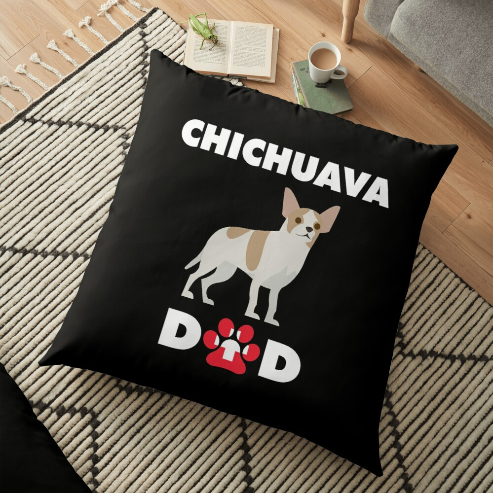 'Swiss Dog Chichuava Dad' Floor Pillow by Gr33ngo