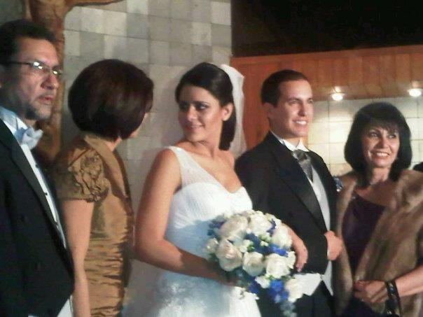 Analu y Juan Pablo en su ceremonia