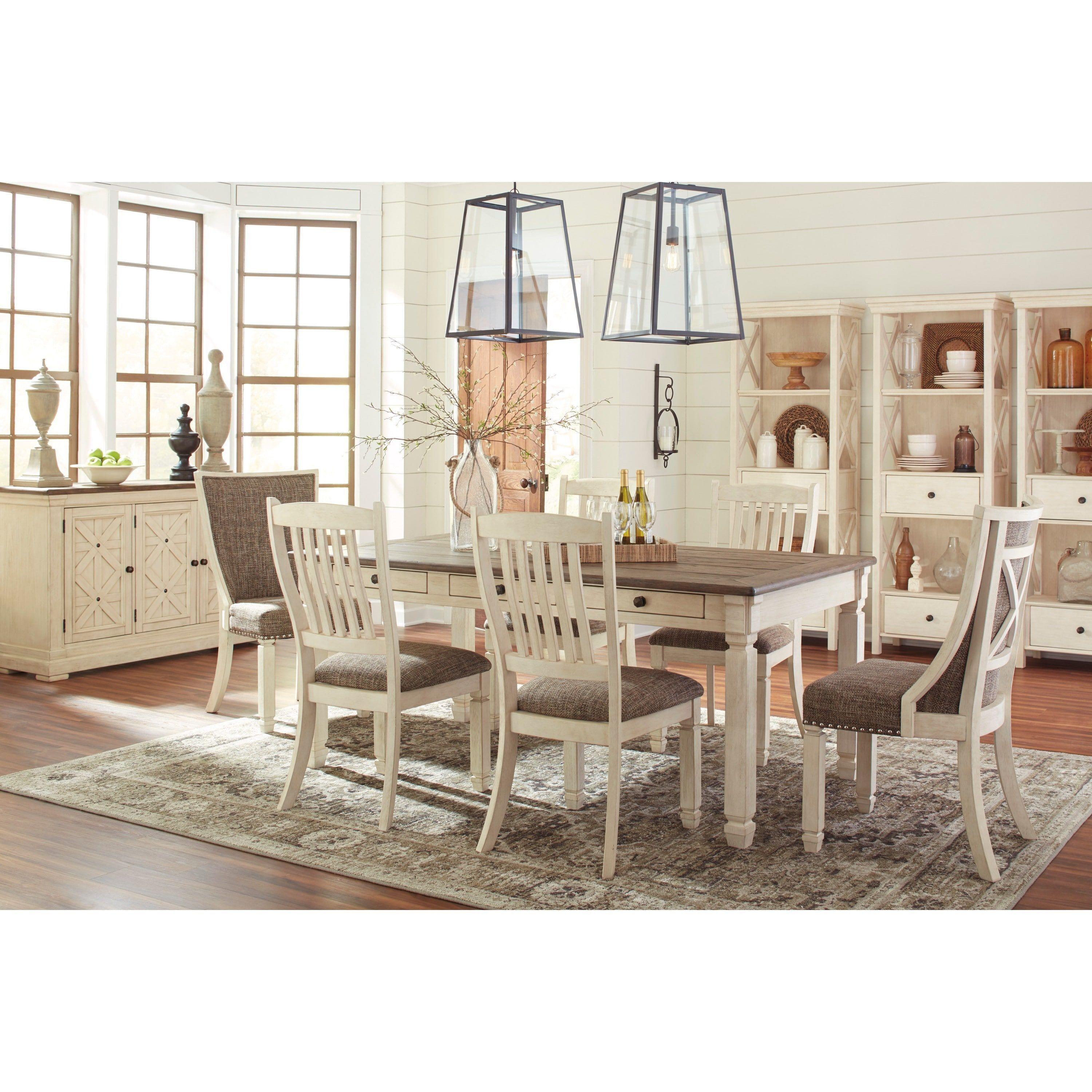 Signature Designashley Bolanburg Twotone Dining Set Dining Alluring Two Toned Dining Room Sets 2018