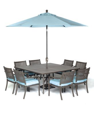 Attractive Holden Outdoor Aluminum Dining Set Square Dining Table, 4 Dining Chairs And  4 Swivel Rockers), Created For Macyu0027s   Outdoor U0026 Patio Furniture    Furniture   ...