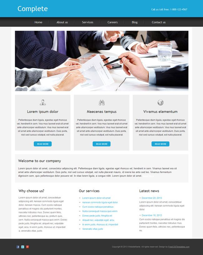 Complete is a free business html template designed in a clear and complete is a free business html template designed in a clear and modern style for all kind of business cheaphphosting Images