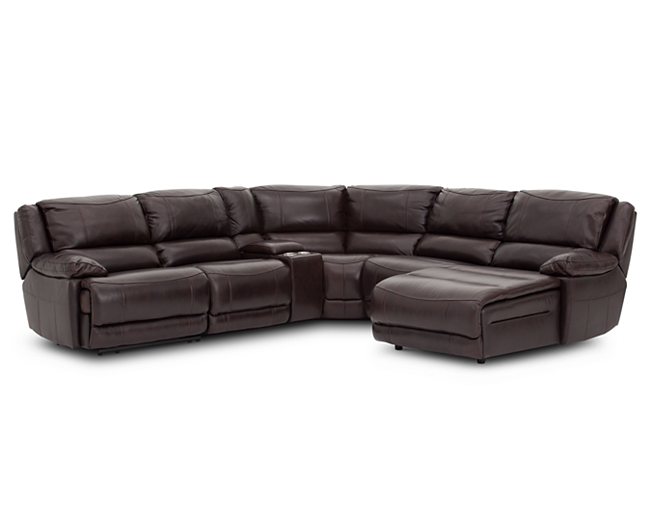 Sectionals Everest 6 Pc Sectional Luxurious Leather For All Your