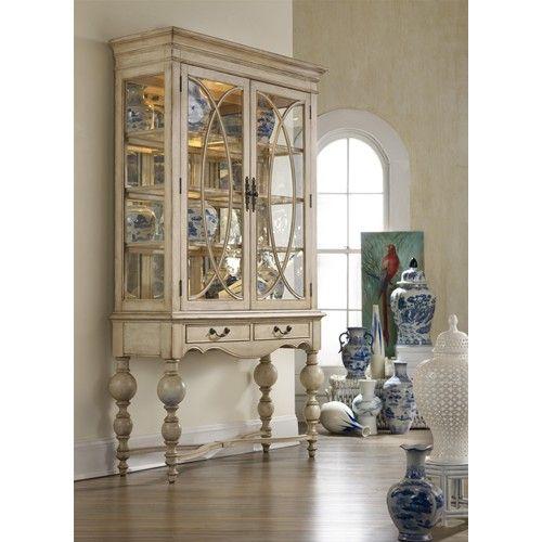 Mélange Savannah Display Cabinet with Tallboy Leg by Hooker ...
