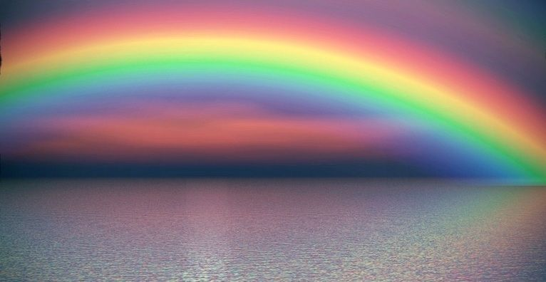 Gambar Pelangi Animasi Dari Kumpulan Gambar Pelangi Di Langit Yang Indah Pelangi Langit Gambar