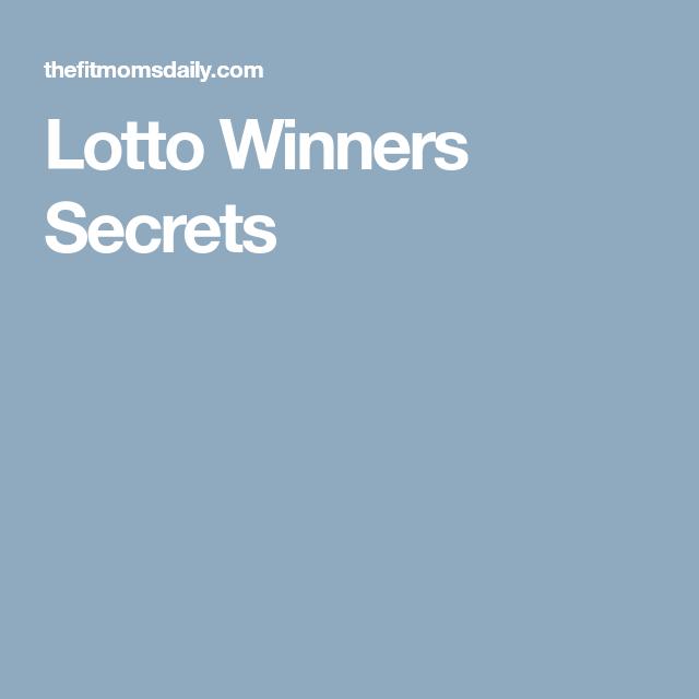 Lotto Winners Secrets Lotto winners, Lotto