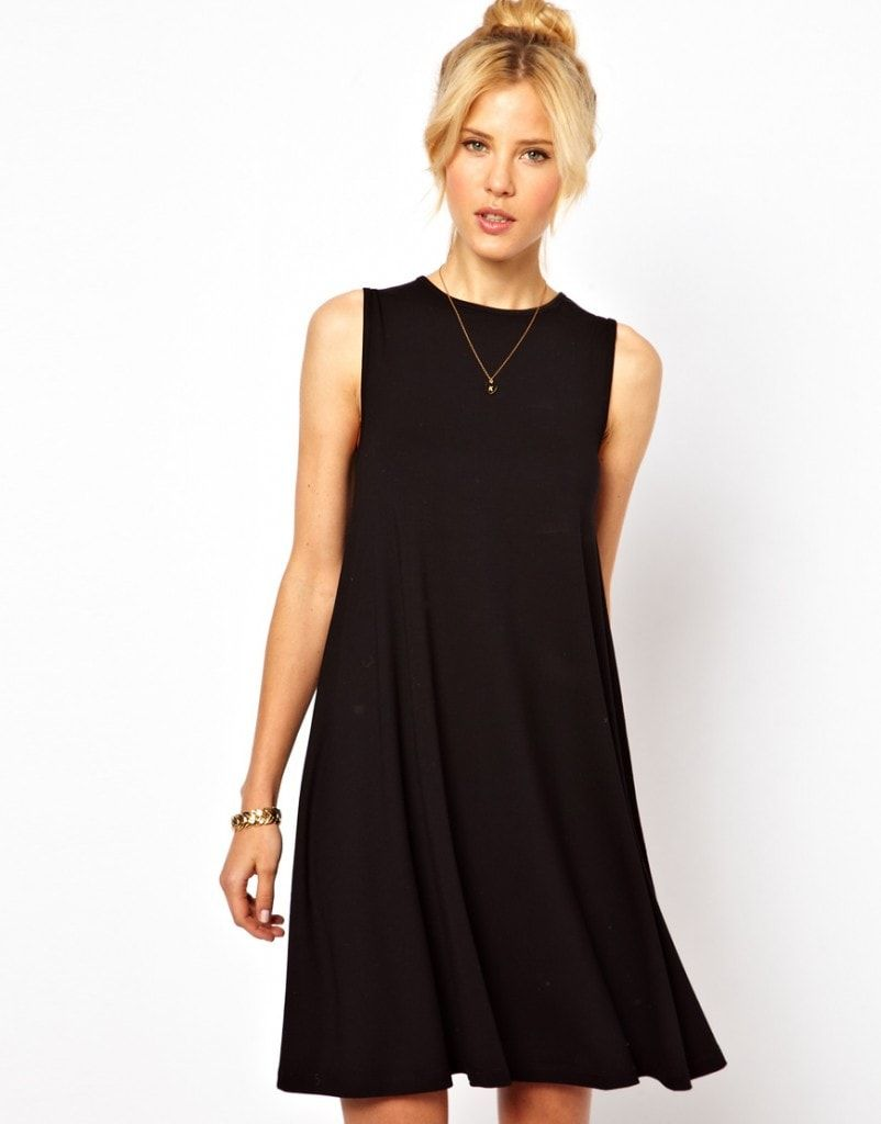 5 Summer Finds Under 50 From Asos Fashionfriday Black Swing Dress Sleeveless Swing Dress Fashion [ 1024 x 802 Pixel ]