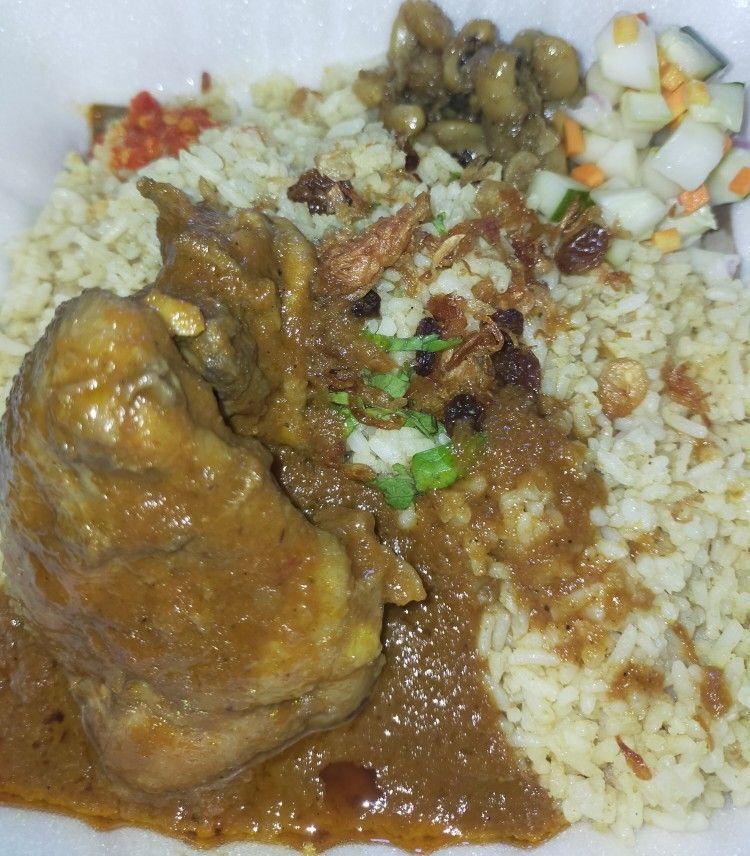 Nasi Samin Kari Ayam Indonesian Arabian Meal Asian Food