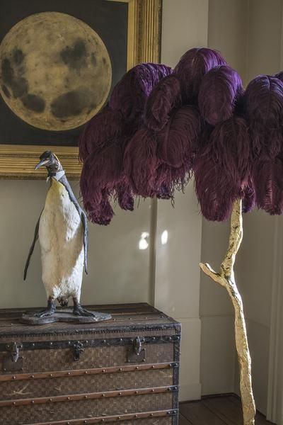 The Feather Lamp Edition Piece By A Modern Grand Tour An Illuminating Palm Tree Resplendent With Exquisite O Feather Lamp Feather Decor Ostrich Feather Decor