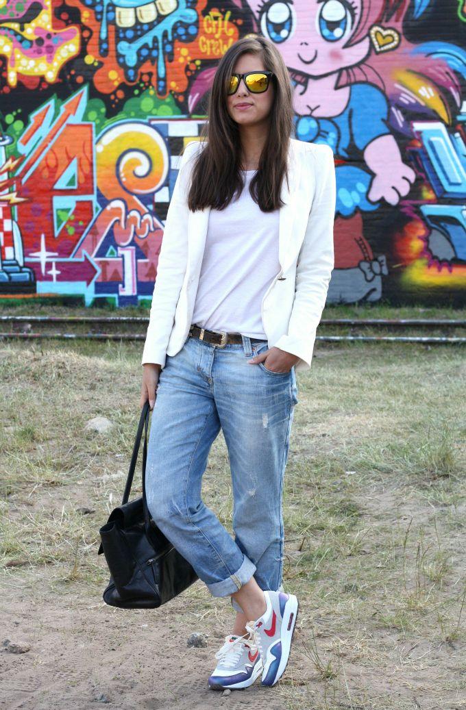 hacerte molestar Robar a Impotencia  Boyfriend Jeans, Nike Air Max, blazer. | Air max outfit, Boyfriend jeans,  Fashion