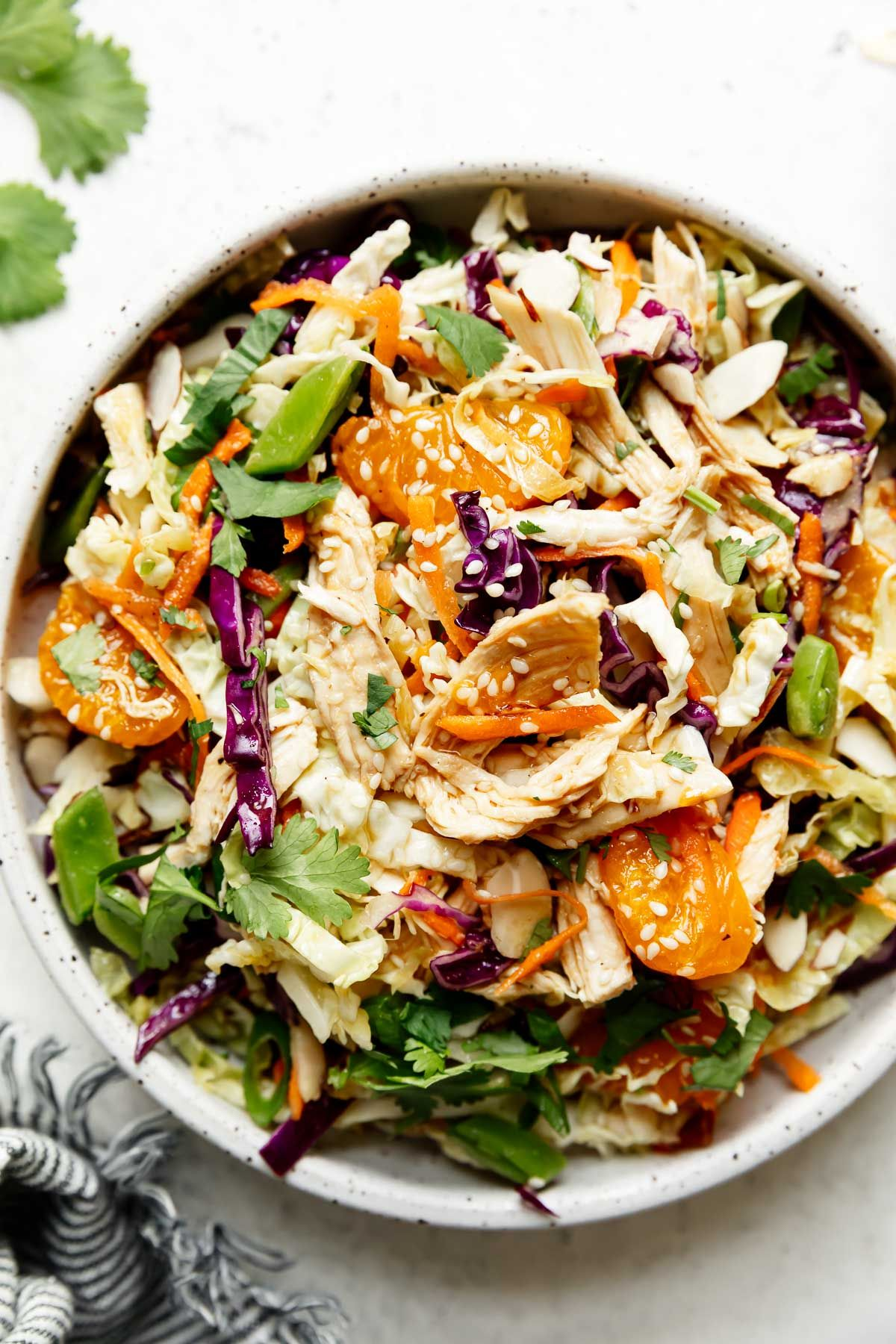 Chinese Inspired Chicken Salad Recipe In 2021 Chinese Chicken Salad Recipe Chicken Salad Salad Recipes