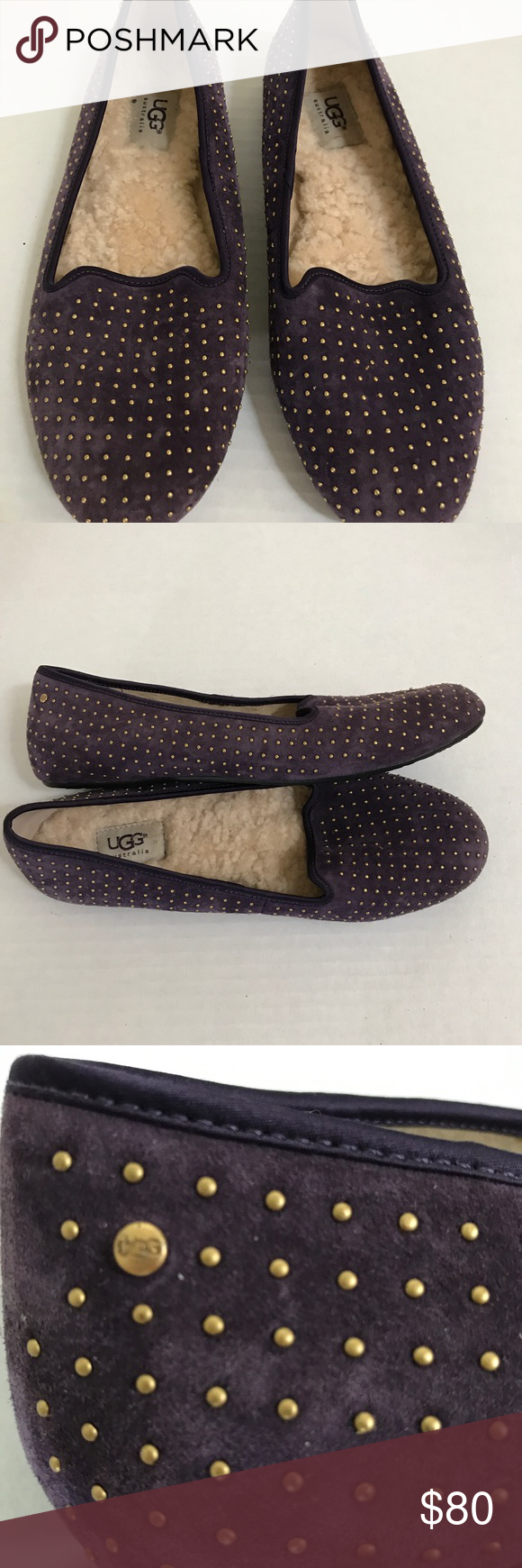 4ed72f5ed26 UGG purple velvet Alloway studded loafer, Sz. 9 Give those toes a ...