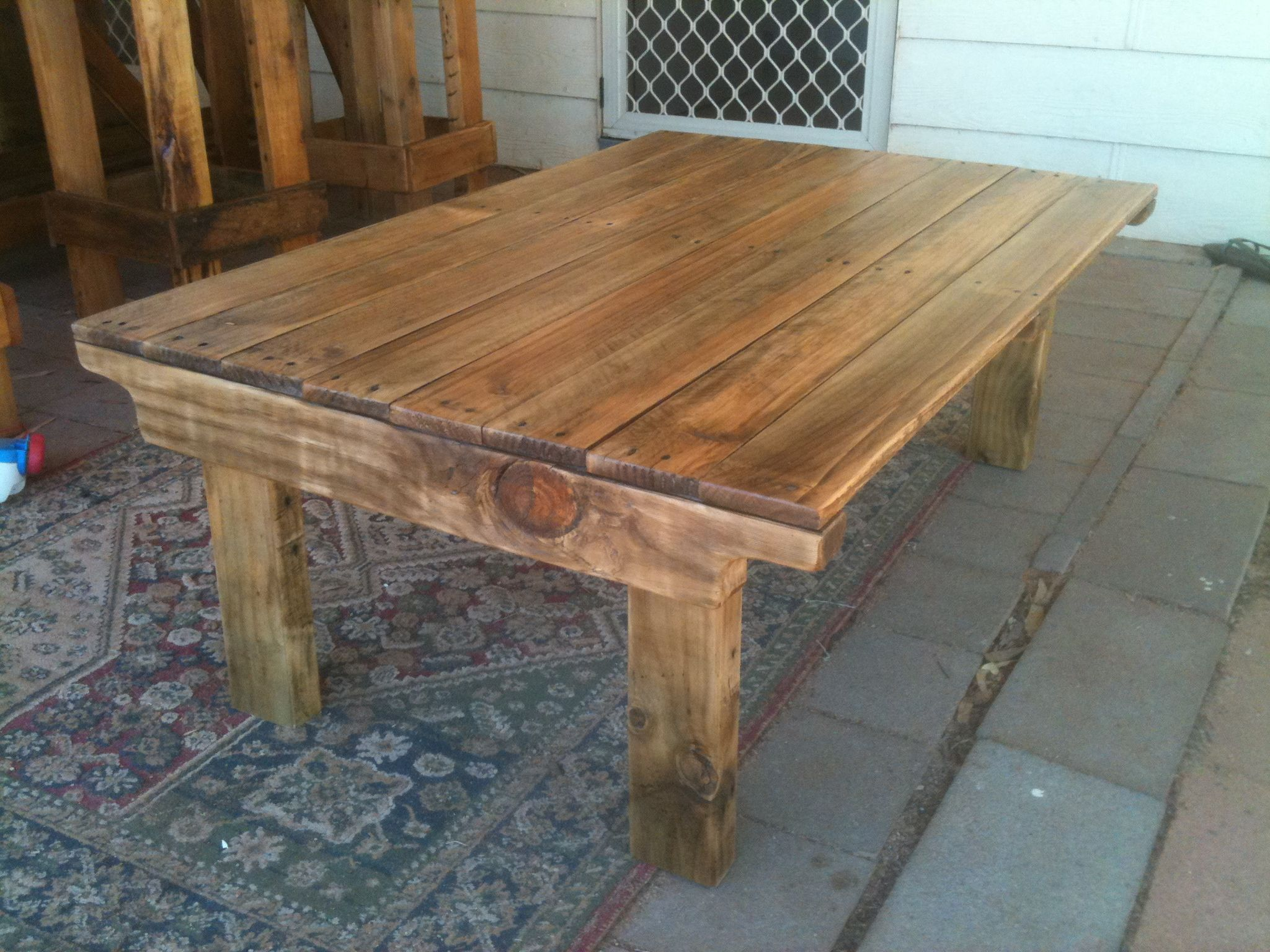 Coffee Table: Not My Pic...I Made Mine W/4x4 Legs