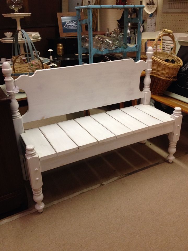Bench Made From Bed Frame Bed Frame Bench Headboard