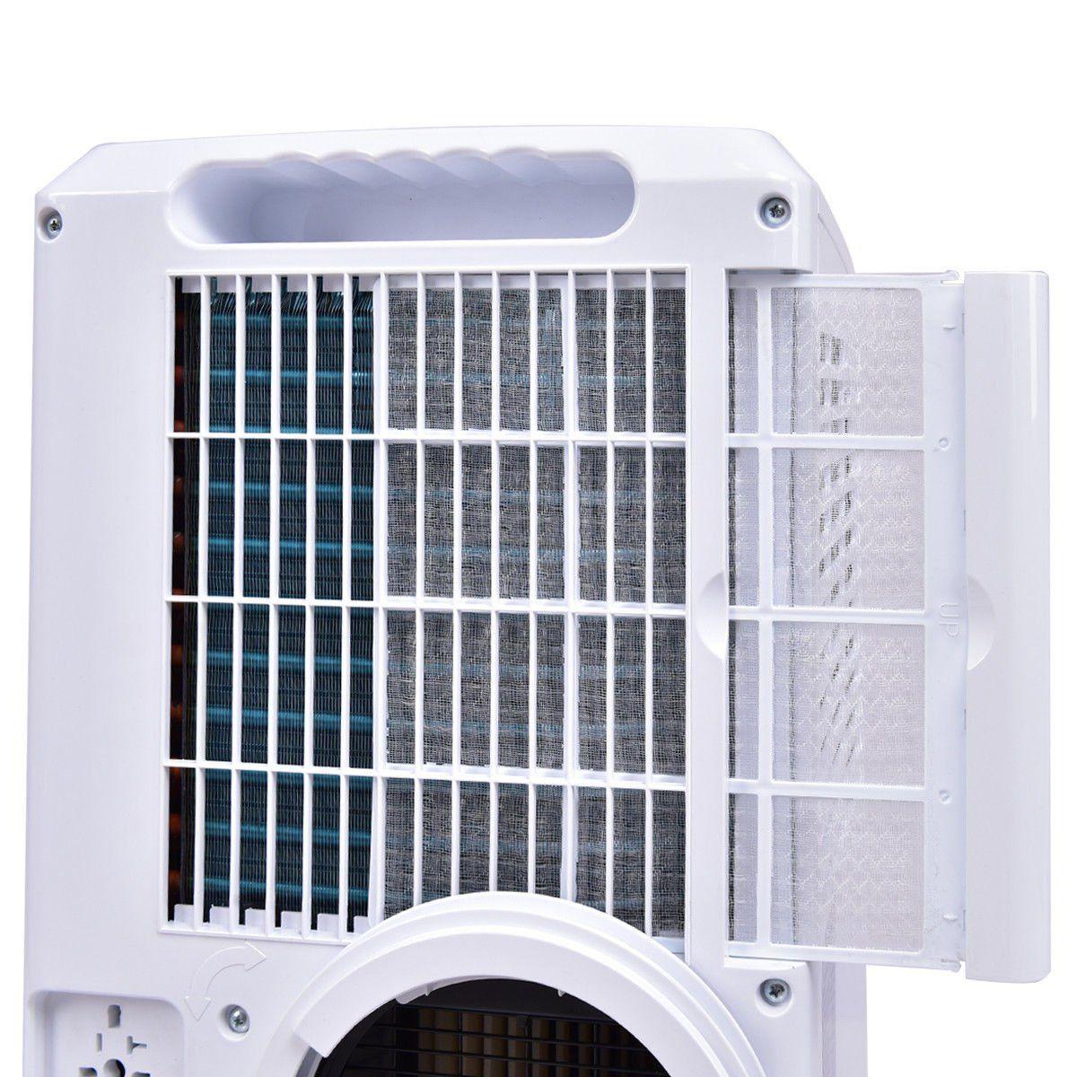 Costway 10000 Btu Portable Air Conditioner With Remote Control Dehumidifier Function Window Wall Mount W Portable Air Conditioner Air Conditioner Dehumidifiers