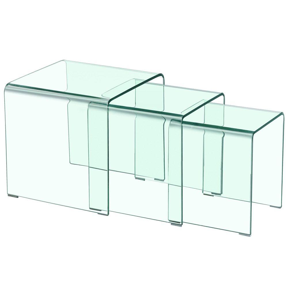 Table Basse Gigogne Verra Transparent En 2020 Table Basse Gigogne Table Basse Et Table Basse Verre