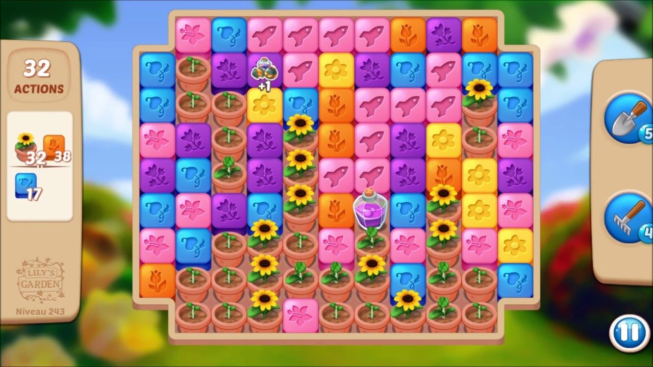 Lily S Garden Level 243 No Boosters In 2021 Design Puzzle Lily Lily Garden