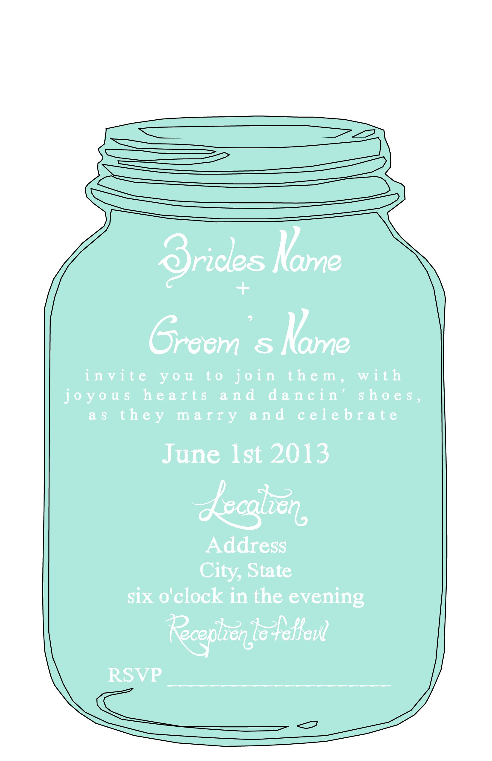 Free wedding invitation templates love this mason jar httpwww free wedding invitation templates love this mason jar httpweddingchicksfreebiesinvitation suitesmason jar invitation suite stopboris Gallery