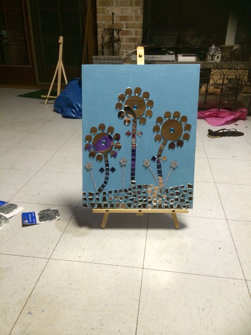 Another pic of my mosaic sip n paint creation yvonneus creations