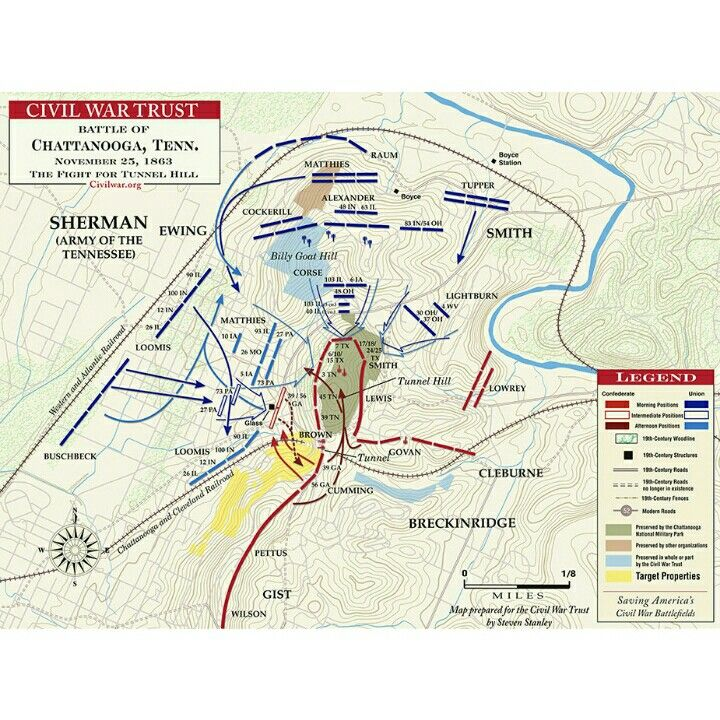 Fort Sumter On Us Map.Map Of The Battle Of Chattanooga Tn The American Civil War In