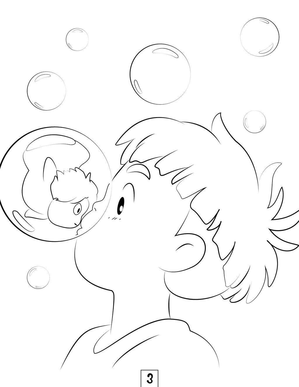 Studio Ghibli Coloring Pages  Ghibli tattoo, Studio ghibli tattoo