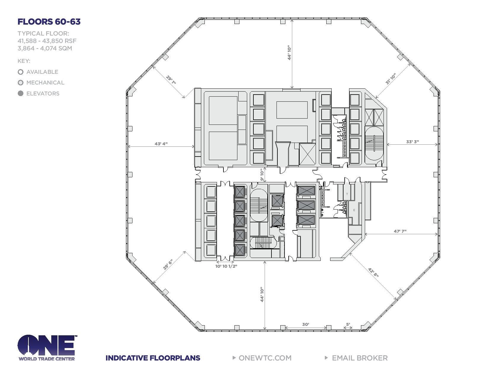 One World Trade Center, Freedom Tower Floor Plans, New York City