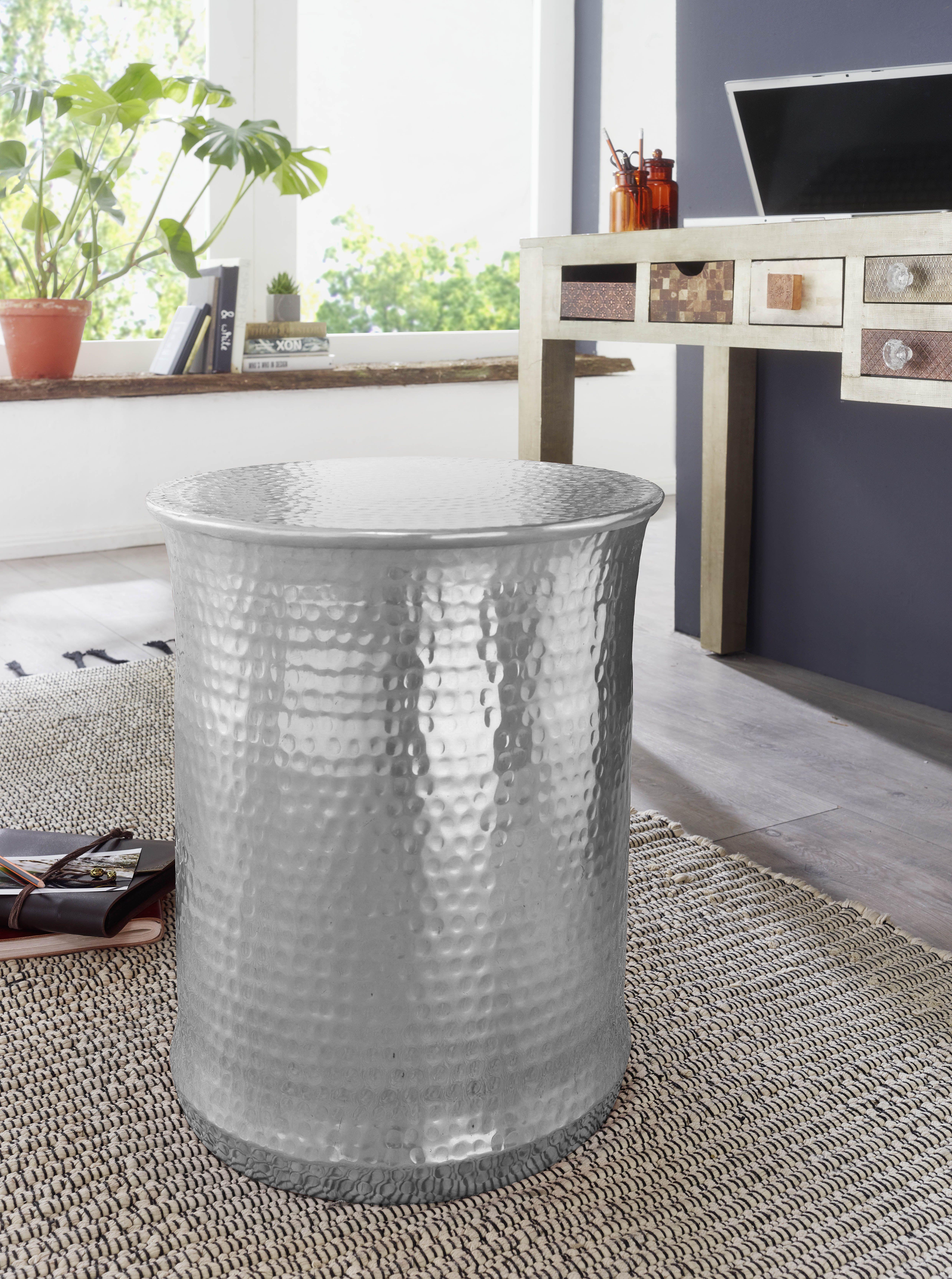 Wohnling Beistelltisch Turan Silber Wl5 487 Aus Aluminium Silber Metall Wohnidee Dekoration Ablage Wohnen Rund Wohnzimmeruhren Sofa Tisch Beistelltisch