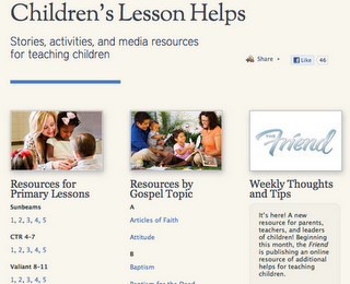 LDS Teaching Resources for Parents, Primary Teachers, other