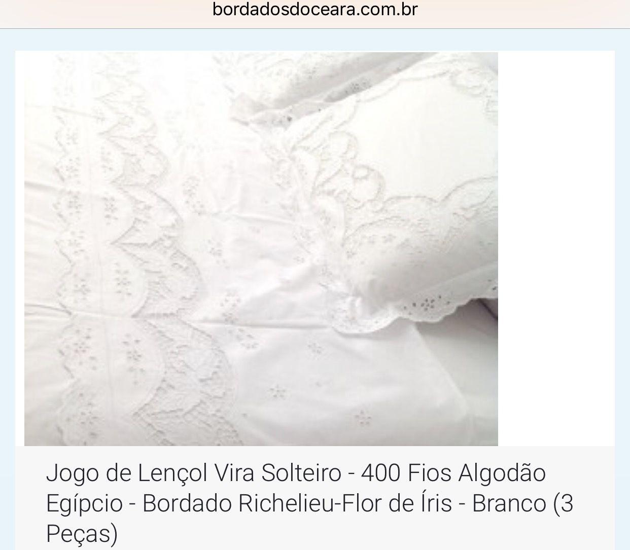 3f37e0430f Pin de Bordados do Ceará - Jutnet em Jogo de Cama