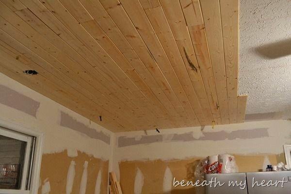 Painting A Basement Ceiling Wood Plank Ceiling Remodel Bedroom Master Bedroom Remodel