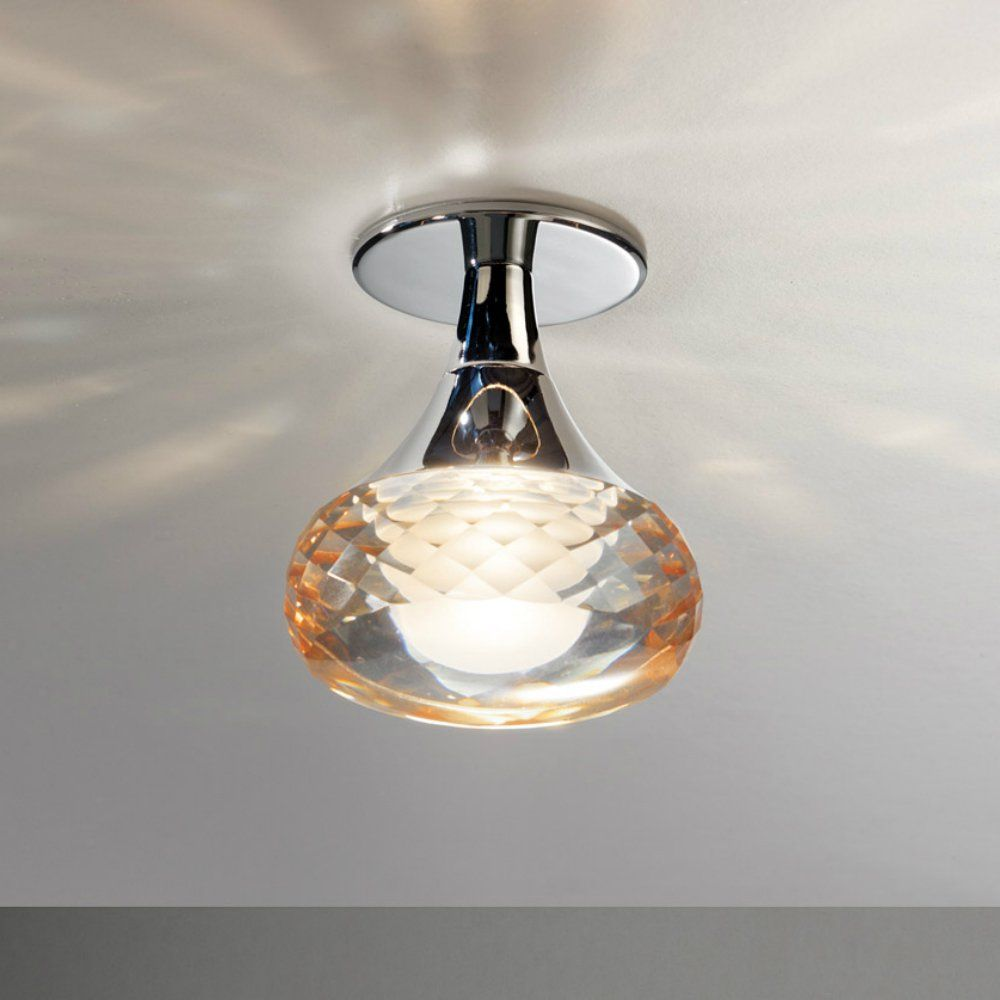 Axo Light Fairy PLFAIRYIAMCRLED Amber Semi Flush Ceiling Light