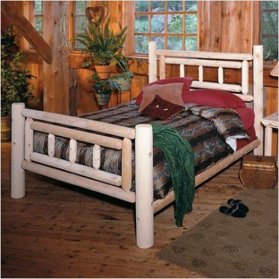 Log Cabin Style Headboards For King Size Beds Deluxe Bedroom Set Bed Furniture